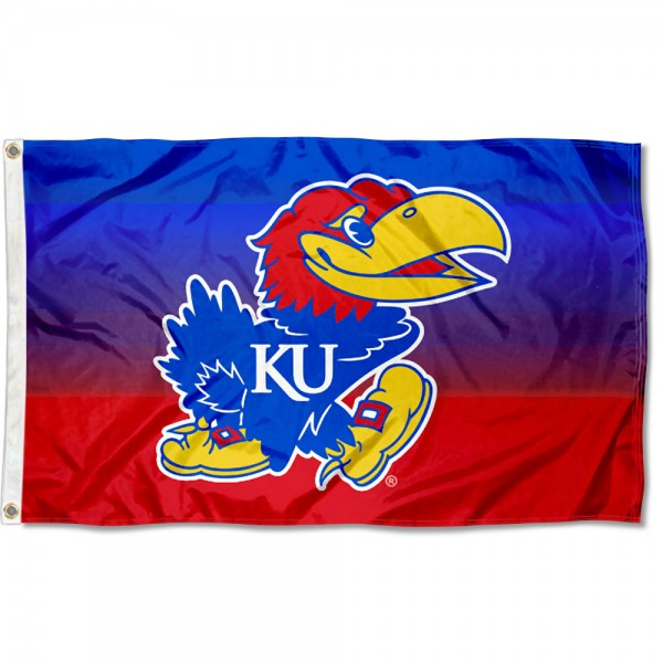 University of Kansas Two Tone Color Flag