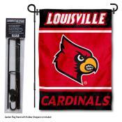 University of Louisville Garden Flag and Yard Pole Holder Set