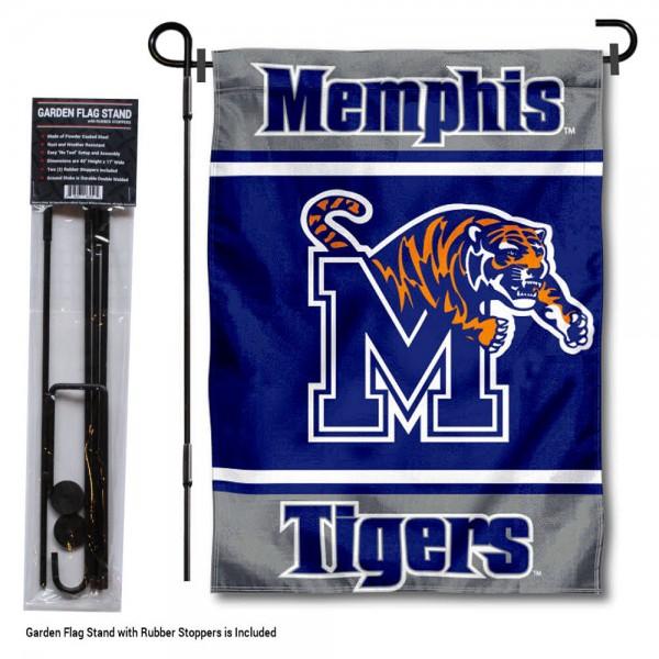 University of Memphis Garden Flag and Yard Pole Holder Set