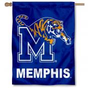 University of Memphis Two Sided House Flag