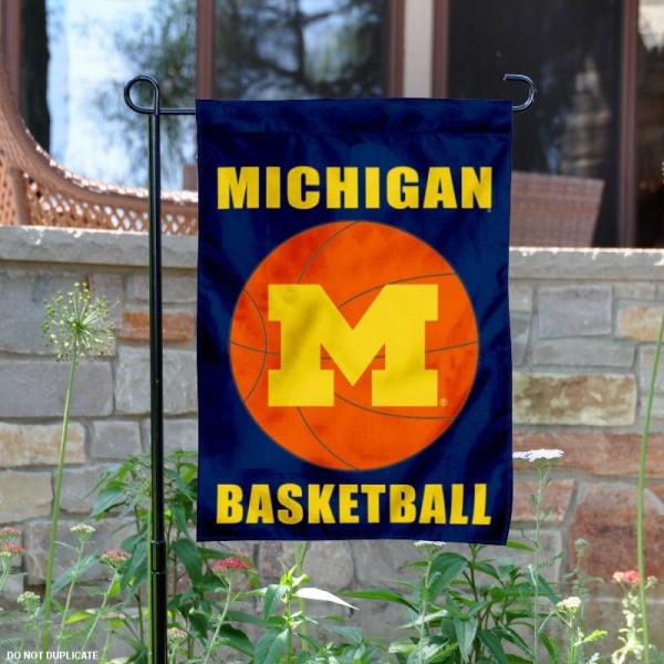 University of Michigan Basketball Garden Flag