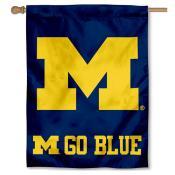 University of Michigan GO BLUE Logo House Flag