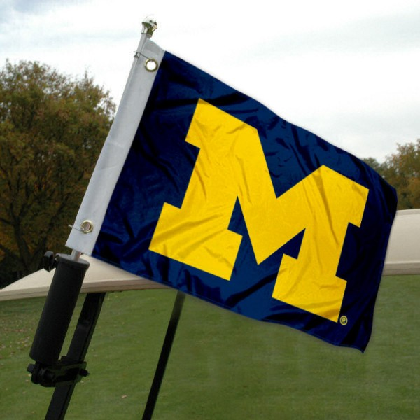 University of Michigan Golf Cart Flag