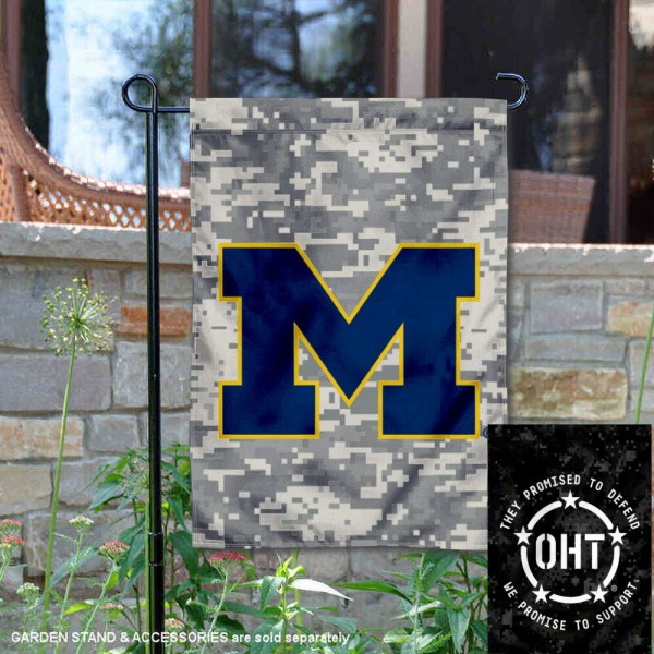 University of Michigan Operation Hat Trick OHT Double Sided Garden Flag