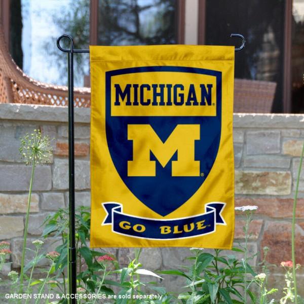 University of Michigan Two Sided Shield Garden Banner