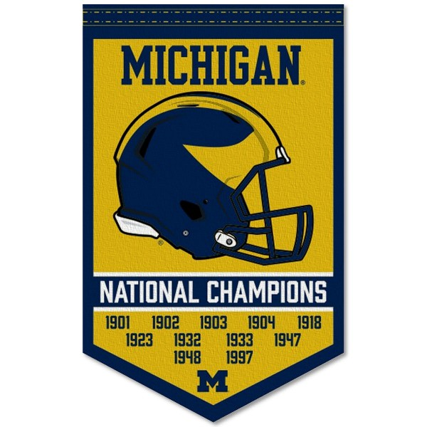 University of Michigan Wolverines College Football National Champions Banner