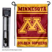 University of Minnesota Garden Flag and Yard Pole Holder Set
