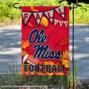 University of Mississippi Fall Leaves Football Double Sided Garden Banner
