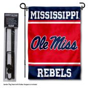 University of Mississippi Garden Flag and Yard Pole Holder Set