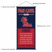 University of Mississippi Man Cave Fan Dorm Wall Banner