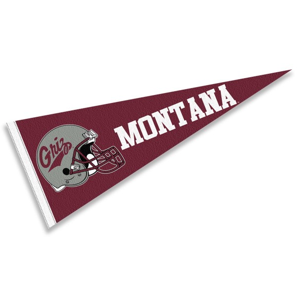University of Montana Football Helmet Pennant