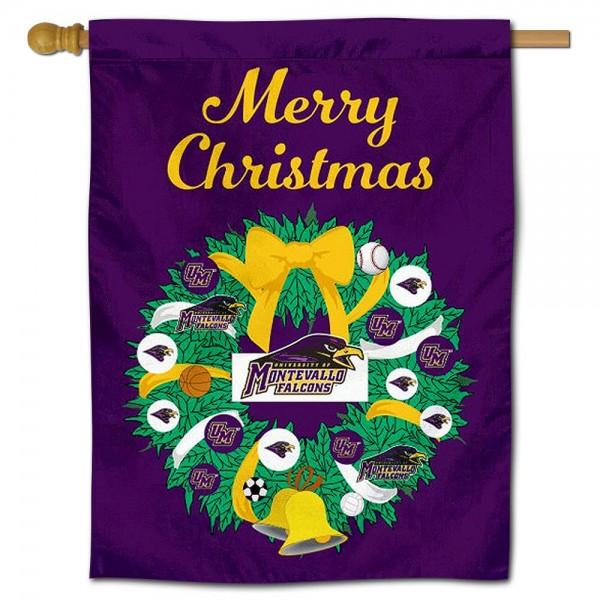 University of Montevallo Christmas Holiday House Flag