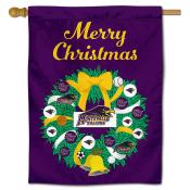 University of Montevallo Christmas Holiday House Flag