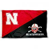 University of Nebraska Divided Blackshirts Flag