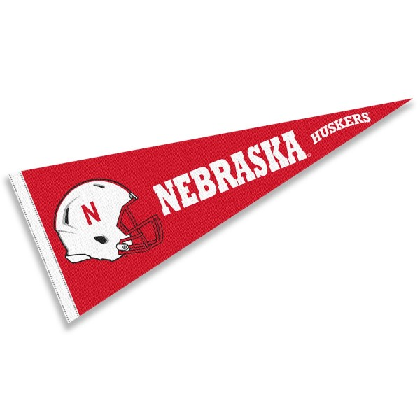 University of Nebraska Football Helmet Pennant