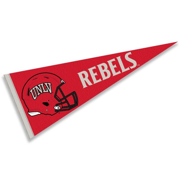 University of Nevada Las Vegas Football Helmet Pennant