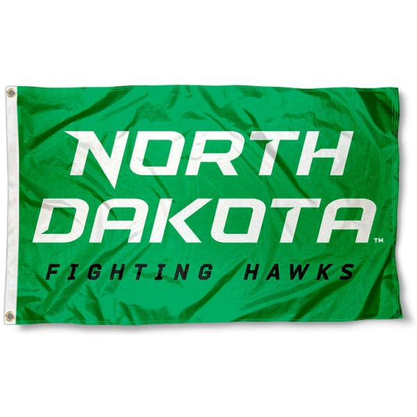 University of North Dakota Wordmark Flag