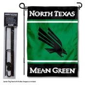University of North Texas Garden Flag and Yard Pole Holder Set
