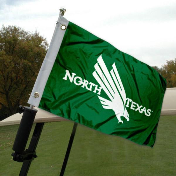 University of North Texas Golf Cart Flag