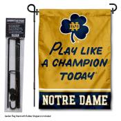 University of Notre Dame Play Like A Champion Garden Flag and Holder