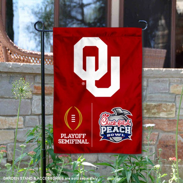 University of Oklahoma College Football Playoff Semifinal Game Double Sided Garden Flag