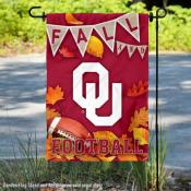 University of Oklahoma Sooners Fall Leaves Football Double Sided Garden Banner