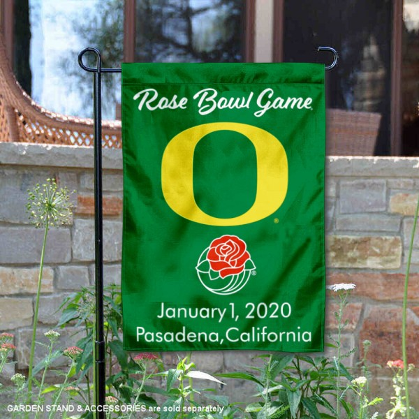 University of Oregon Rose Bowl Game 2020 Double Sided Garden Flag