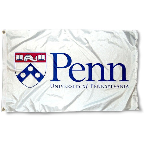 University of Pennsylvania White Wordmark Flag