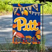 University of Pittsburgh Panthers Fall Leaves Football Double Sided Garden Banner
