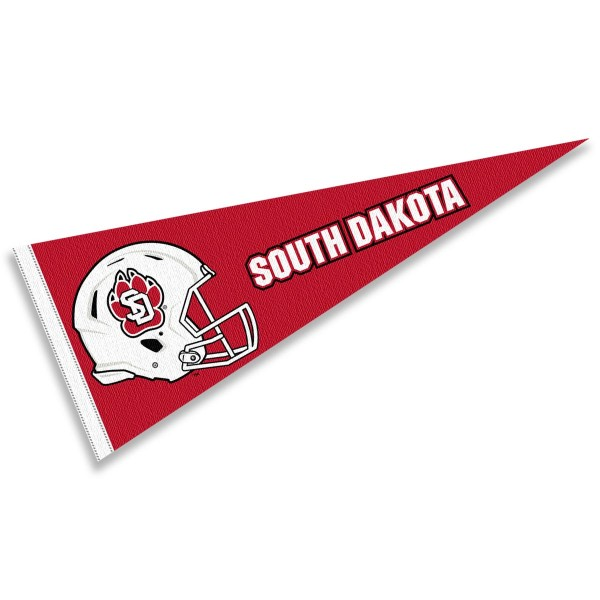 University of South Dakota Football Helmet Pennant