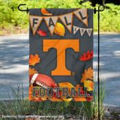 University of Tennessee Volunteers Fall Leaves Football Double Sided Garden Banner