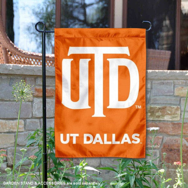 University of Texas at Dallas 2 Ply Double Sided Garden Flag