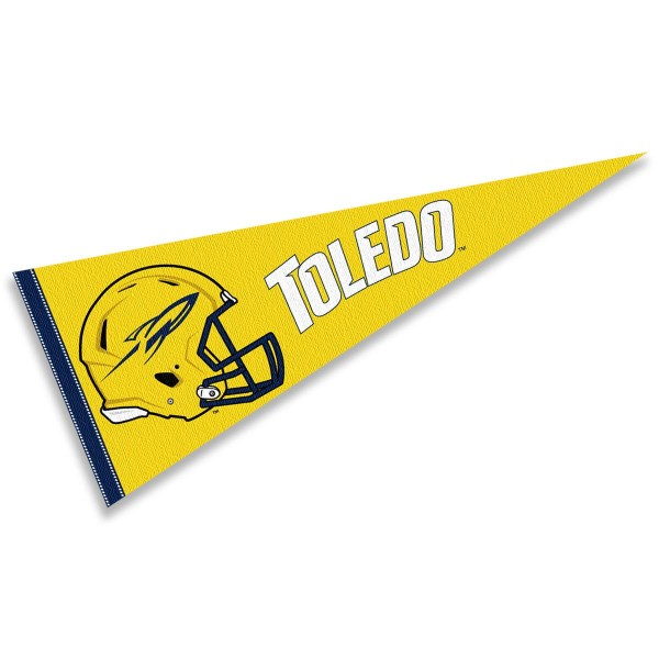 University of Toledo Football Helmet Pennant