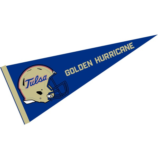 University of Tulsa Football Helmet Pennant