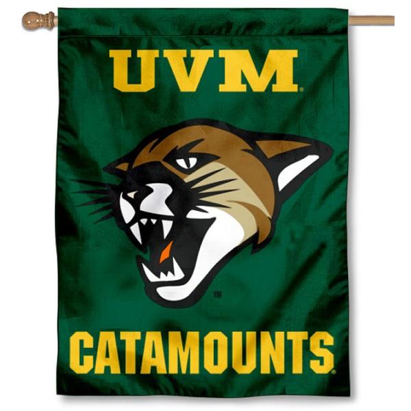 University of Vermont UVM Logo House Flag