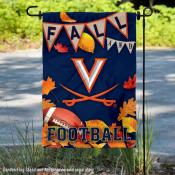 University of Virginia Cavaliers Fall Leaves Football Double Sided Garden Banner