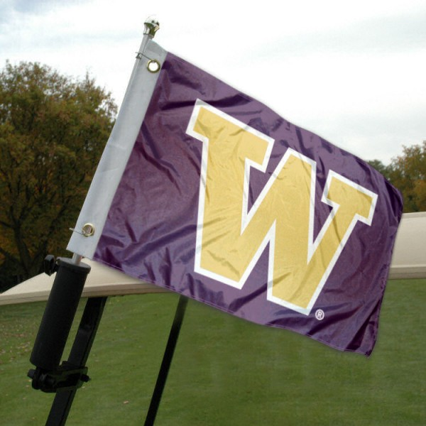University of Washington Golf Cart Flag