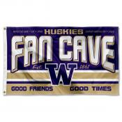 University of Washington Huskies Man Cave Dorm Room 3x5 Banner Flag