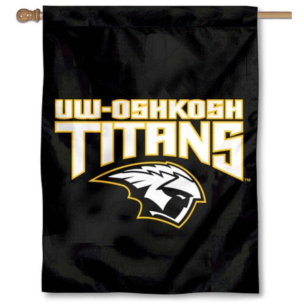 University of Wisconsin at Oshkosh Logo House Flag