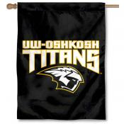 University of Wisconsin at Oshkosh Logo House Flag