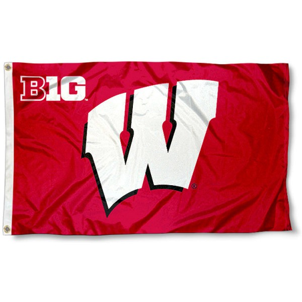 University of Wisconsin Big Ten Flag
