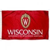 University of Wisconsin Crest Insignia Flag