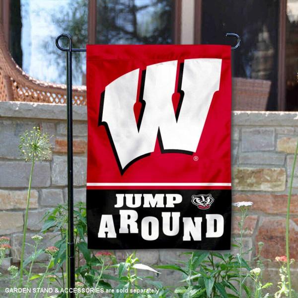 University of Wisconsin Jump Around Double Sided Garden Flag