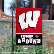 University of Wisconsin Jump Around Double Sided Garden Flag