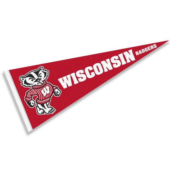 University of Wisconsin Mascot Logo Pennant