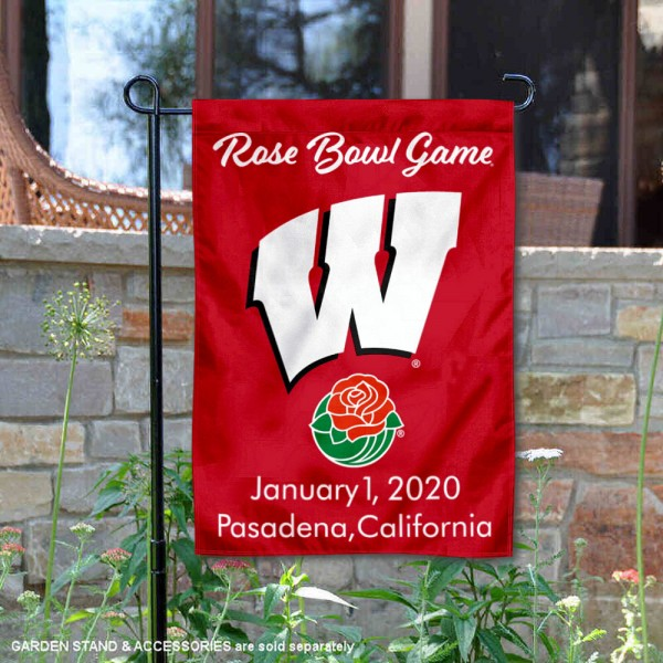 University of Wisconsin Rose Bowl Game 2020 Double Sided Garden Flag