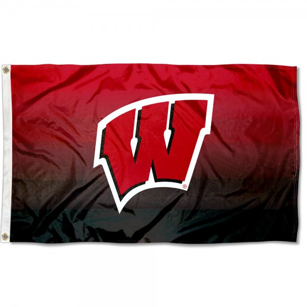 University of Wisconsin Two Tone Color Flag