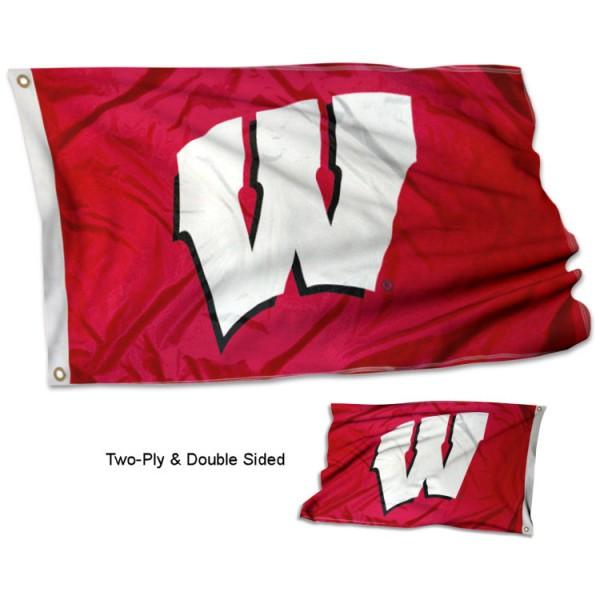 University of Wisconsin W Stadium Flag