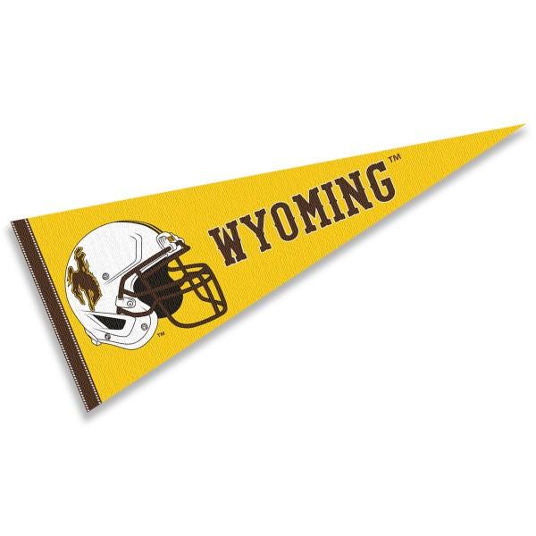 University of Wyoming Football Helmet Pennant