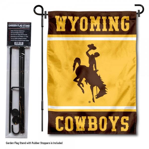 University of Wyoming Garden Flag and Yard Pole Holder Set